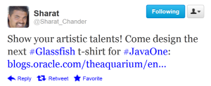 Twitte GlassFish T-Shirt for JavaOne